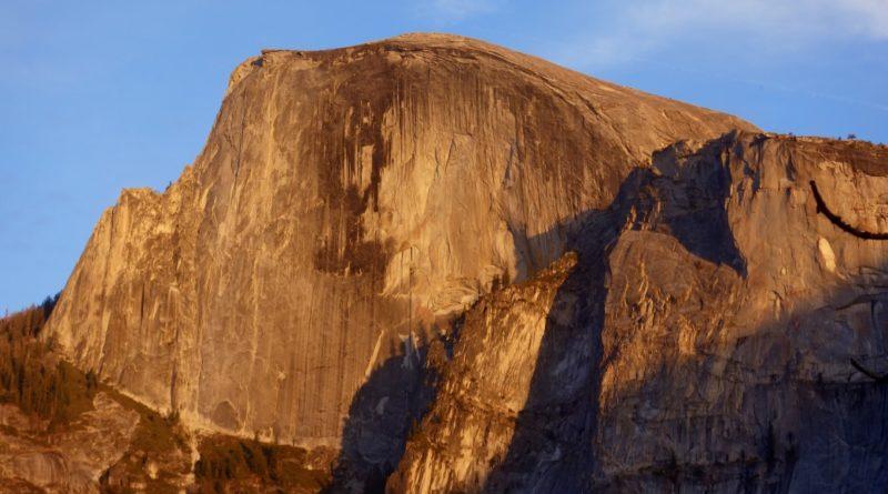 Half dome sunset yosemite valley