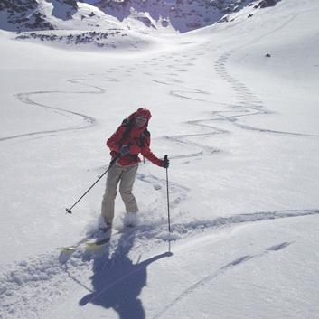initiation ski rando simplon