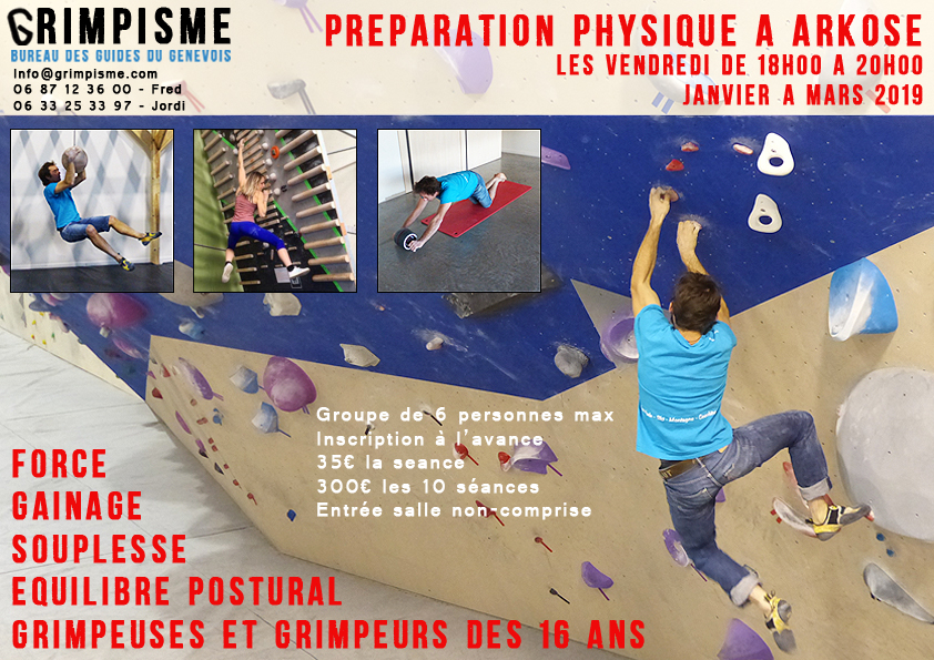 preparation physique arkose escalade