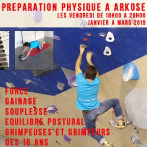 preparation physique escalade arkose