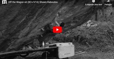 """Vidéo bloc : Shawn Raboutou dans """"Off the Wagon"""" (8c+)"""
