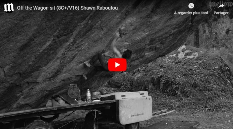 shawn raboutou video bloc escalade