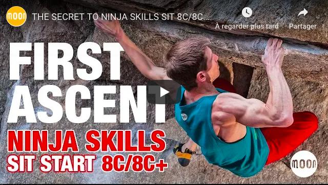 Martin Keller bloc bouldering escalade ninja skills