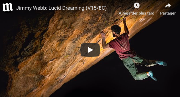 video bloc Jimmy Webb: Lucid Dreaming (V15/8C)