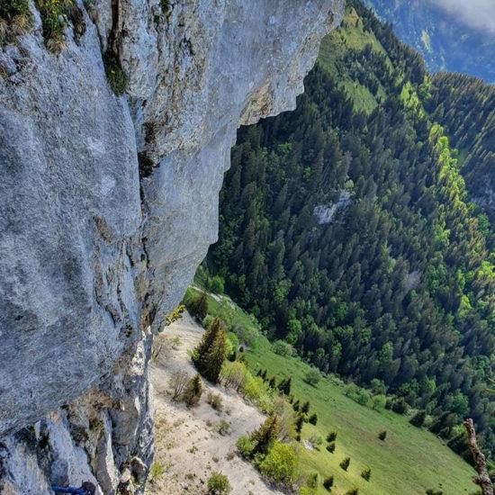 Pilier sud-ouest, Rochers de Leschaux