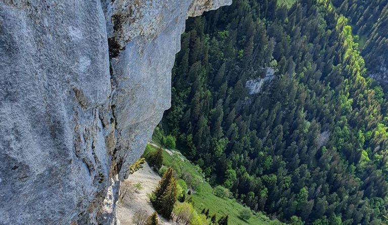 escalade rocher leschaux