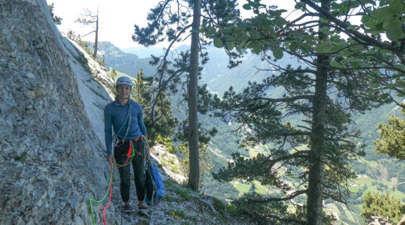voie escalade franco suisse rochers leschaux