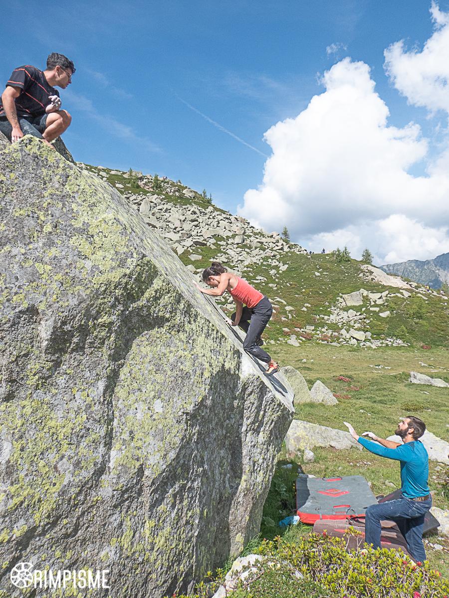 Bloc au Plan Aiguille Chamonix