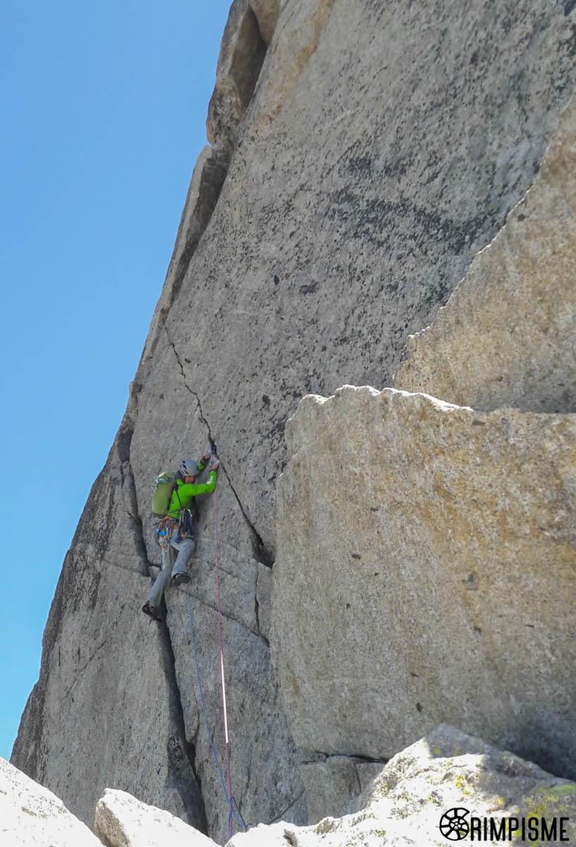 Fissure Lepiney par Fred, Peigne, Chamonix