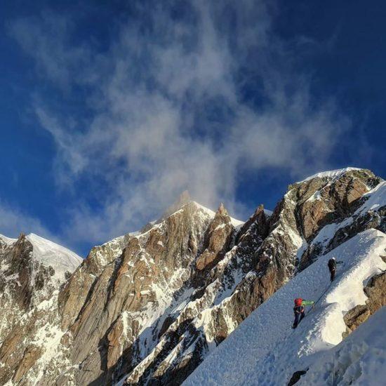 Arete Kufner, massif du Mont Blanc, Julien