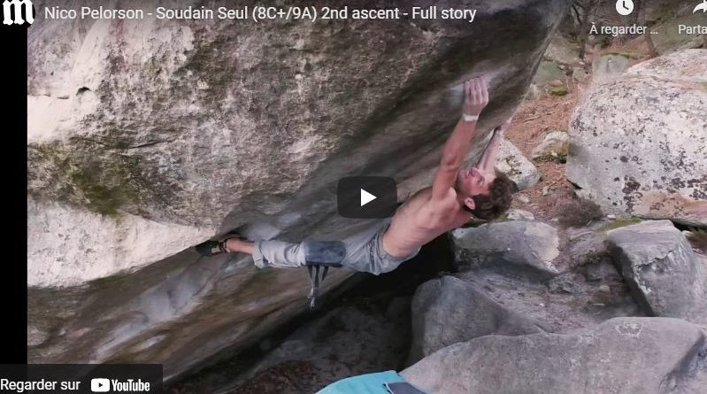 video bloc escalade nico pelorson fontainebleau big island